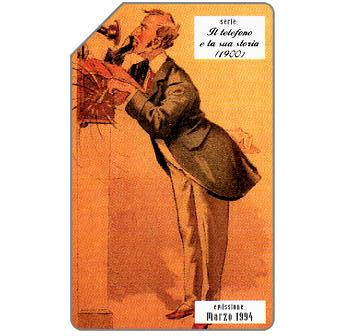 Phonecard for sale: Il telefono e la sua storia, 1900, 31.12.95, L.5000