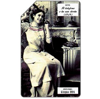 Phonecard for sale: Il telefono e la sua storia, 1919, 31.12.95, L.10000