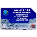 The Phonecard Shop: Italy, 144.611.190 Giornale Telefonico, 31.12.96, L.10000
