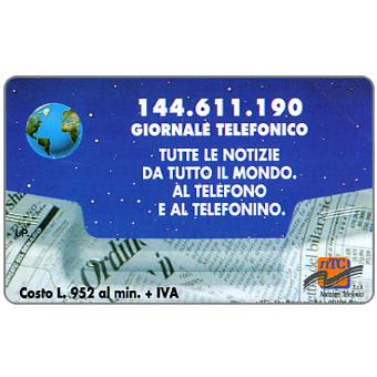 Phonecard for sale: 144.611.190 Giornale Telefonico, 31.12.96, L.10000
