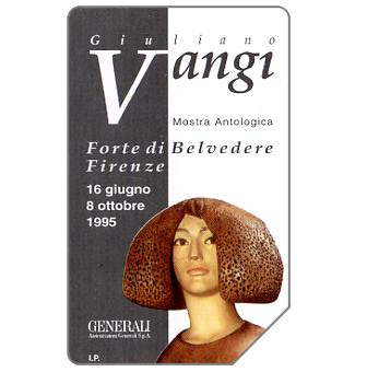 Phonecard for sale: Giuliano Vangi, 31.12.96, L.10000