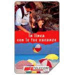 The Phonecard Shop: Italy, In linea con le tue vacanze, 31.12.96, L.10000