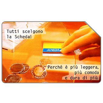 The Phonecard Shop: Italy, Tutti scelgono la scheda, 31.12.98, L.10000