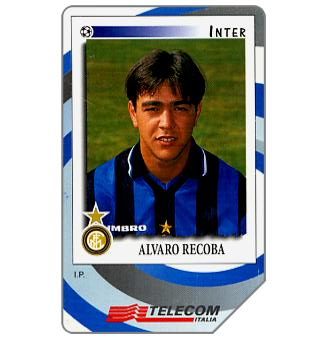 Phonecard for sale: Gli Introvabili Panini, Alvaro Recoba, 30.06.2000, L.10000