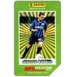 The Phonecard Shop: Italy, I grandi acquisti 1998-99, Roberto Baggio, 30.06.2001, L.5000