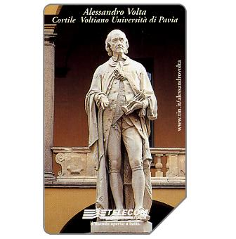 Phonecard for sale: Alessandro Volta, 31.12.2001, L.10000