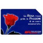 The Phonecard Shop: Italy, La Rosa rossa, 31.12.2001, L.5000