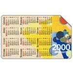 The Phonecard Shop: Italy, Calendar 2000, 31.12.2001, L.5000