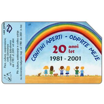Phonecard for sale: Confini aperti, 30.06.2003, L.5000