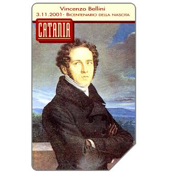 Phonecard for sale: Catania, Vincenzo Bellini, 30.06.2004, € 5,00