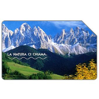 Phonecard for sale: La natura ci chiama, Le Dolomiti, 31.12.2004, € 2,50