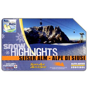 Phonecard for sale: Snow Highlights, Alto Adige, 31.12.2005, € 5,00