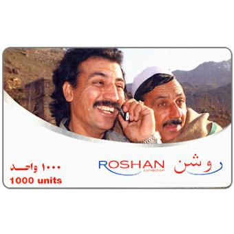 Phonecard for sale: Roshan - Man at phone, 1000 units