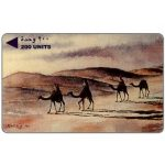 The Phonecard Shop: Bahrain, Painting by Wahab Koheji, A Camel Caravan, 3BAHD/B, 200 units