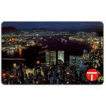 The Phonecard Shop: Scenery series, Victoria Harbour at Night, $50