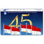 The Phonecard Shop: Indonesia, Perumtel Indosat - 45 years of Indonesia independence, 140 units