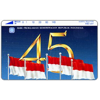 Perumtel Indosat - 45 years of Indonesia independence, 140 units