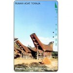 The Phonecard Shop: Perumtel Indosat - Rumah Adat Toraja, traditional house, 280 units
