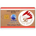 The Phonecard Shop: First chip issue, 50th Anniversary of Indonesian Independence, 140 units