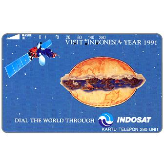 Phonecard for sale: Perumtel Indosat - Visit Indonesia Year 1991, 280 units