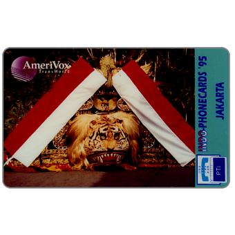 Phonecard for sale: Amerivox Transworld - Indo-Phonecards '95 - Jakarta, specimen
