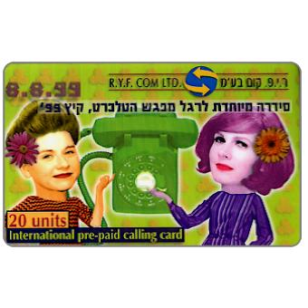 Phonecard for sale: R.Y.F. com ltd. - Two women and phone, 20 units