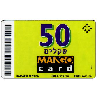Mango card - Sample with 'xxxxxx' code, 50 units