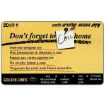 The Phonecard Shop: Israel, Don't forget to call home, 20 units