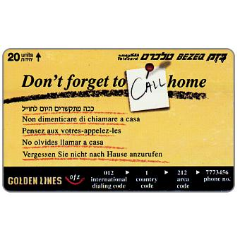 Phonecard for sale: Don't forget to call home, 20 units