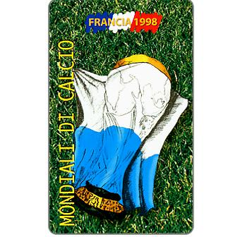Phonecard for sale: Football Championships France 1998, L.10000