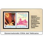 The Phonecard Shop: Vatican City, Stamps from Vatican City, Assisi for Peace in Europe, L.10.000