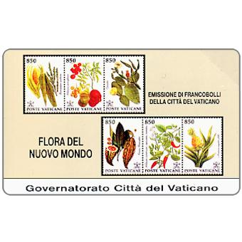 Phonecard for sale: Stamps from Vatican City, Flora from the New World, L.5.000