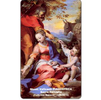Phonecard for sale: Musei Vaticani, Holy Family, L.5.000