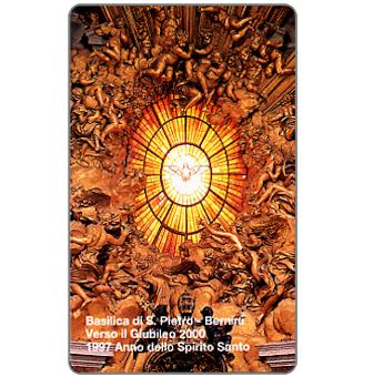 Phonecard for sale: Sculptured ceiling by Bernini, L.10.000