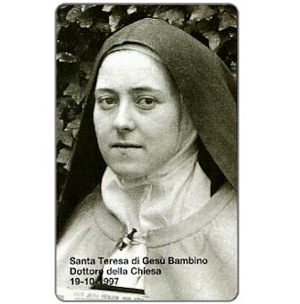 Phonecard for sale: Santa Teresa of the Christ Child, L.10.000