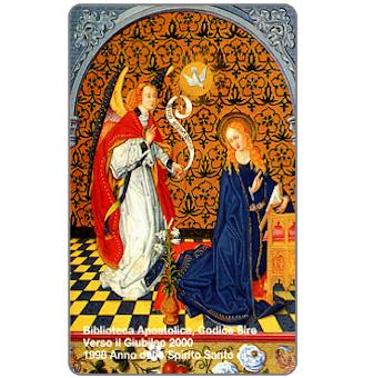Phonecard for sale: The Annunciation from the 'Codice Sire', L.10.000