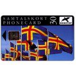The Phonecard Shop: Aland Islands (Finland), Tele - The flag of Aland, 30mk