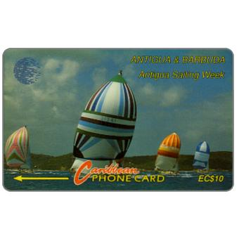 Phonecard for sale: Sailing Week, blue logo, 7CATA, EC$10