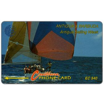 Phonecard for sale: Sailing Week, blue logo, 7CATC, EC$40