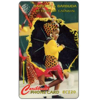 Phonecard for sale: 10 Years of Carnival, 181CATF, EC$20
