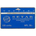 The Phonecard Shop: Setar logo, 004B, 120 units