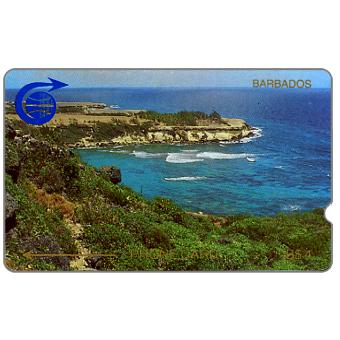 Phonecard for sale: First issue, coastline, 1CBDA, deep notch, B$4