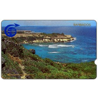 Phonecard for sale: First issue, coastline, 1CBDC, deep notch, B$20