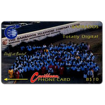 Phonecard for sale: Totally Digital, old logo, 6CBDA, B$10