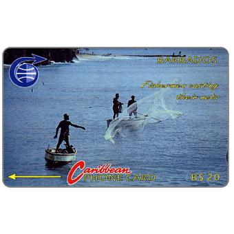 Phonecard for sale: Fishermen, old logo, 7CBDB, B$20