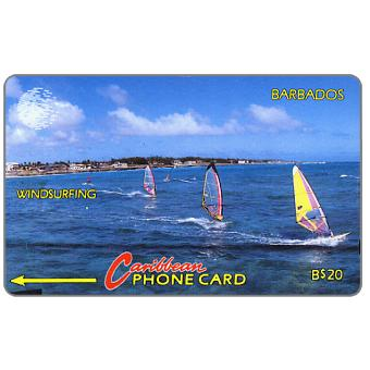 Phonecard for sale: Windsurfing, white logo, 10CBDB, B$20