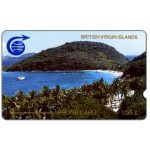 The Phonecard Shop: First issue, Peter Island, deep notch, 1CBVA, US$2