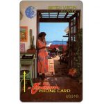 The Phonecard Shop: Woman on phone, 10CBVA, US$10