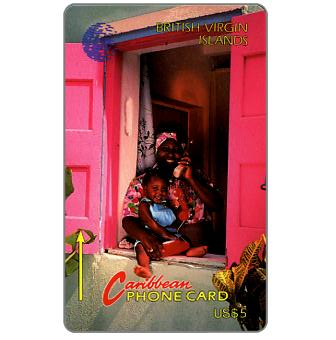 Phonecard for sale: Woman and child, new logo, 10CBVB, US$5