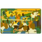 The Phonecard Shop: British Virgin Islands, Carnival, puzzle 2/3, 17CBVB, US$10